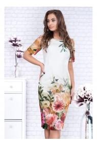 Rochie pe corp cu imprimeu floral - OANA 91352