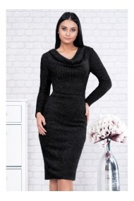 Rochie pe corp din tricot - Riri 91622 Neagra