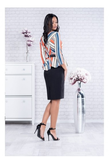 Rochie cu peplum colorat - Candy 91545