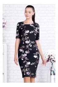 Rochie Per Donna pe corp cu imprimeu floral-Valentina 91391roz