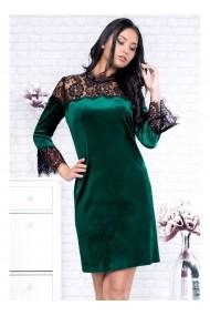 Rochie din catifea si dantela - Jaia 91296 Verde