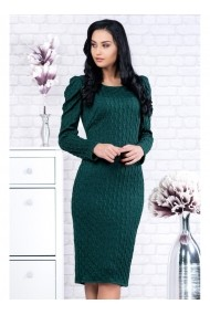 Rochie din tricot cu umeri bufanti - Raluca 91686vd