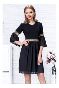 Rochie din voal cu motive traditionale - Ioana 91372ng