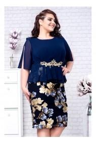 Rochie midi cu accesoriu in talie - Cornelia 91394blm Florala