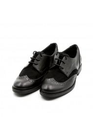Pantofi oxford din piele Tungus 01-PON Negri