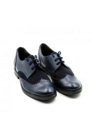 Pantofi oxford din piele Tungus 01-POB Bleumarin