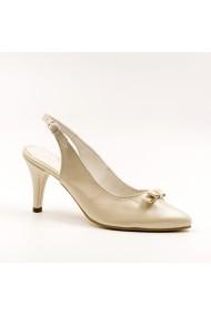 Pantofi cu toc din piele Tungus 01-PMB Bej