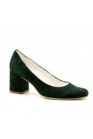 Pantofi cu toc din piele Tungus 01-PVV Verzi