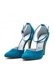 Pantofi stiletto din piele Tungus 01-PST Turcoaz
