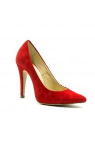Pantofi stiletto din piele Tungus 01-SRV Rosii