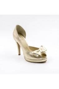 Pantofi cu toc din piele Tungus 01-PPA Aurii