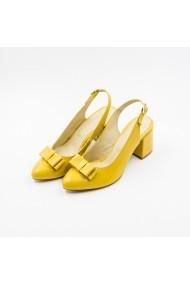 Pantofi cu toc din piele Tungus 01-SGT Galbeni