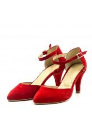 Pantofi din piele TUNGUS 01S-DRJ Rosii