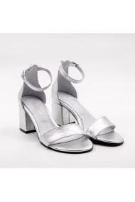 Sandale din piele TUNGUS 01-SGTG Argintii