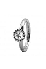 Inel Crystal Flower 3-5a argintiu