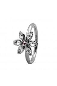 Inel Marquise Flower 3-6a argintiu