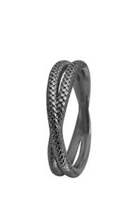 Inel Twin Snake 1-11d negru