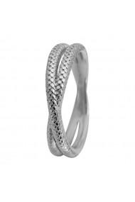 Inel Twin Snake 1-11a argintiu