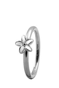 Inel Flower 1.8A argintiu