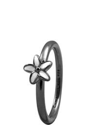 Inel Flower 1.8D negru