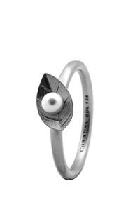 Inel Pearl Leaf 2.1A argintiu