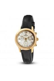 Ceas de dama Swiss Made 1 diamant cadran de sidef Christina Cronograf Negru