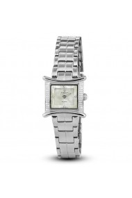 Ceas Swiss Made Argintiu bratara otel inoxidabil 56 Diamante