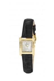 Ceas Swiss Made Auriu Curea de piele 38 Diamante