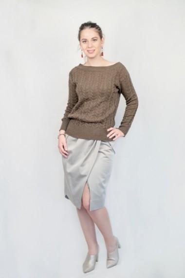 Pulover Carmen Grigoriu dama cashmere-olive