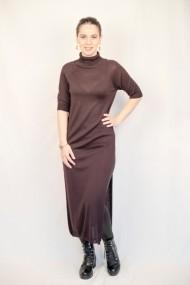 Rochie Carmen Grigoriu cu slit si maneci raglan-olive