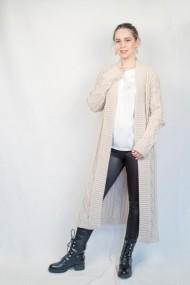 Pardesiu Carmen Grigoriu long-wool-beige melange