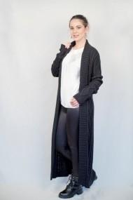 Pardesiu Carmen Grigoriu long-wool-negru
