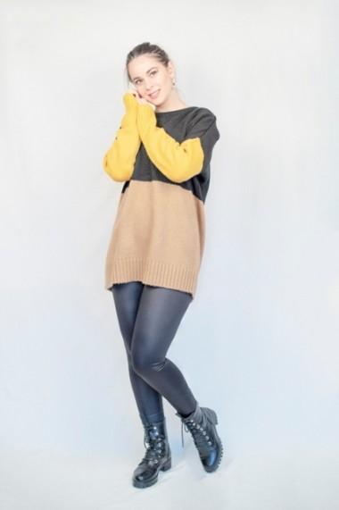 Pulover Carmen Grigoriu dama 3 culori-mustar
