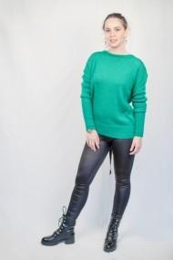 Pulover Carmen Grigoriu dama cu catarama pe spate-verde