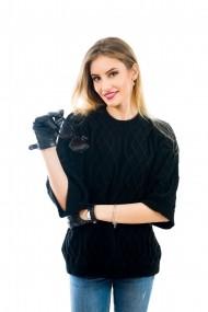 Pulover Carmen Grigoriu sensation-negru