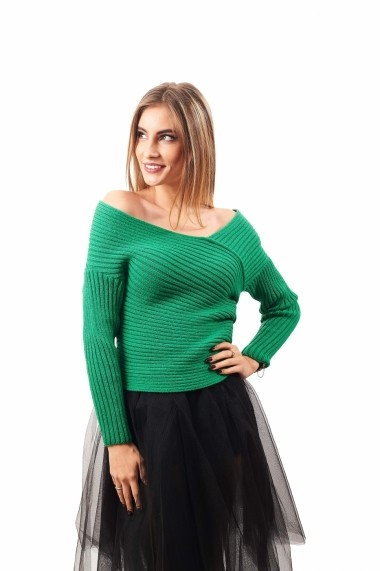 Pulover Carmen Grigoriu Camilla KNIT 1385 Verde