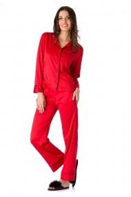 Pijama En Prive din satin de matase Rosu Model Coco