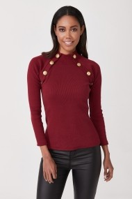 Bluza Angele Mode PN0511 Bordo