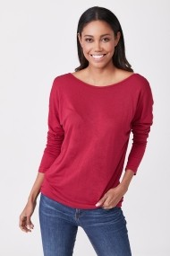 Bluza Angele Mode PN0681 Bordo - els