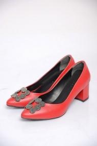 Pantofi cu toc ShoesTime 19K 202 Rosu