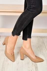 Pantofi cu toc ShoesTime 19K 207 Bej
