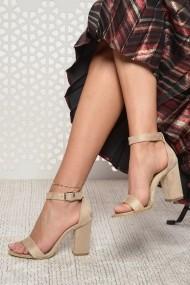 Sandale cu toc ShoesTime 19Y 2211 Bej