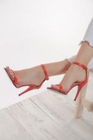 ShoesTime PNC-19Y_2261_KIRMIZI_DERI Piros