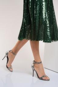 Sandale cu toc ShoesTime 19Y 702 Argintiu