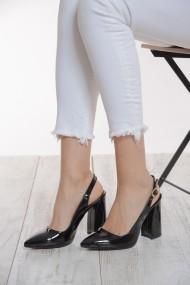 ShoesTime Magassarkú cipő PNC-19Y_707_SIYAH_RUGAN Fekete