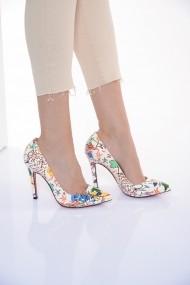 Pantofi cu toc ShoesTime 19Y 710 Alb