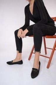 ShoesTime Balerina PNC-19K_400_SIYAH_SuET Fekete