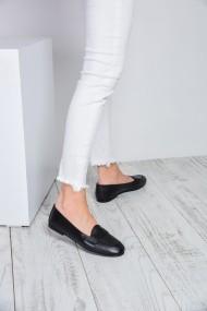 ShoesTime Balerina PNC-ILK04_SIYAH_DERI Fekete