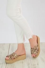 Papuci ShoesTime 19Y 314 Bej