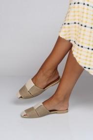 Papuci ShoesTime 19Y 93 Bej